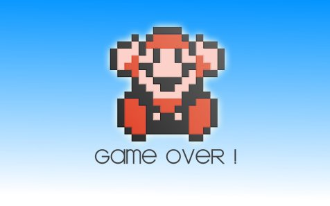 super mario brothers 3 game over screen wallpaper background nintendo